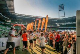 B2Run dieses Jahr mit über 9.000 Teilnehmern - Einschränkungen für Autofahrer Dienstag rund ums Weserstadion